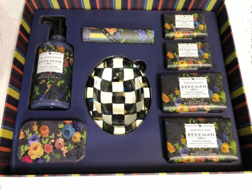 RARE BEEKMAN 1802 MacKenzie Child Covent Garden GIANT 8-pc Gift Box DISCONTINUED
