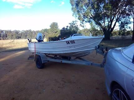Kestrel Aluminium Boat 13FT 25HP