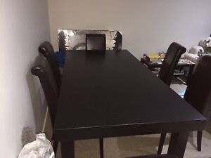7 piece leather dining Table