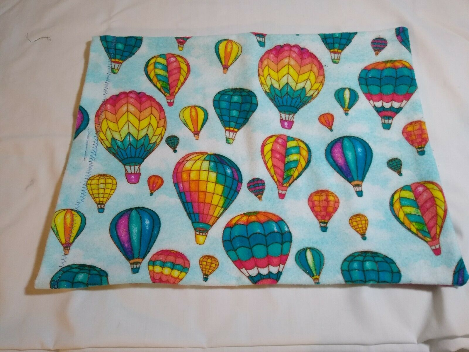 flannel heating pad cover hot air balloons
