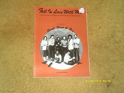 Earth, Wind & Fire sheet music Fall in Love with Me '83 8 pages (VG+ shape)