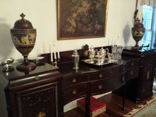"Fantastic Dining Room Set, 126"" Sideboard, China, Server, 10' table, 10 chairs"