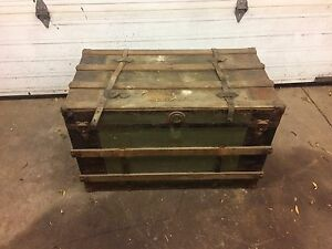Antique trunk. Coffee table!