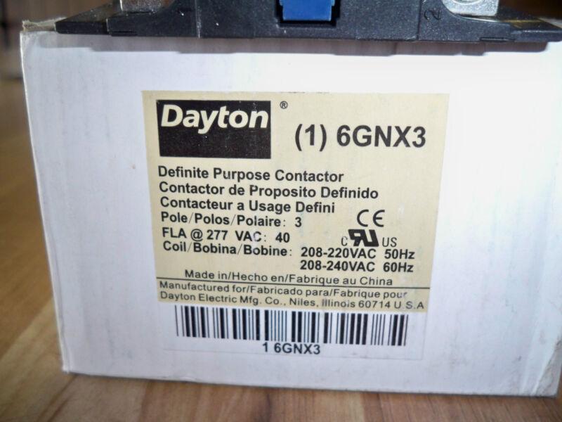 DAYTON 6GNX3 CONTACTOR CONTACT STARTER