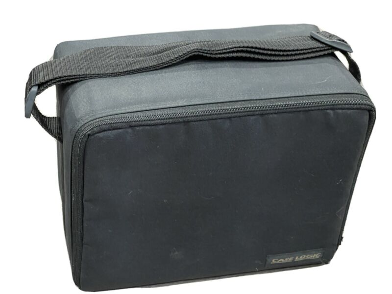 VTG Case Logic CD Case Holder Organizer Holds 30 CDs Black