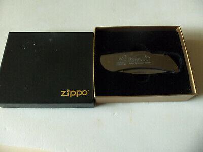 Vintage ZIPPO Stainless Pocket Knife w/ Advertising 'STEWART GENETICS' NIB