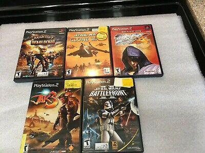 Lot Of 5 Playstation 2 Games-Tekken 4, Jak 3, Star Wars, Ratchet Deadlocked