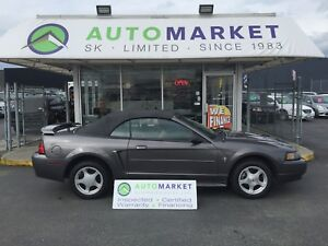 2003 Ford Mustang Deluxe Convertible AUTO V6 WARRANTY!