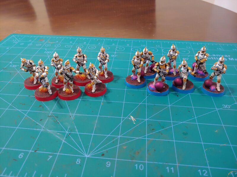 Star Wars Legion Painted 212th Attack battalion Phase 1 Clones