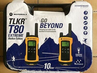 Motorola TLKR T80 Extreme Walkie Talkies BRAND NEW