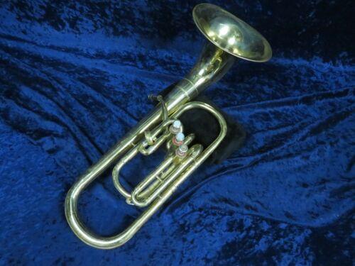 Holton Collegiate Bell Front 3 Valve F Alto Horn Ser#372314 Plays & Needs Adjust
