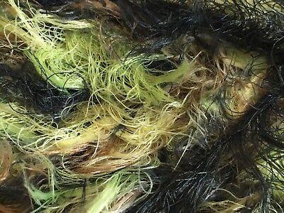 Greens Black Brown Long Eyelash Yarn Dark Horse Yarns Soft #102 - 100 -