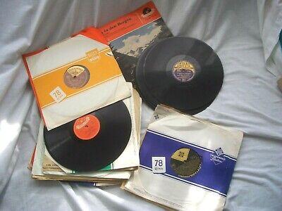 Schellackplatten f. Grammophon Konvolut mit 30 Platten 25 cm Durchmesser - Samml