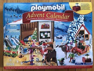 Playmobil 9264 Christmas Advent Calendar w/ Electric Lantern Santa's Workshop