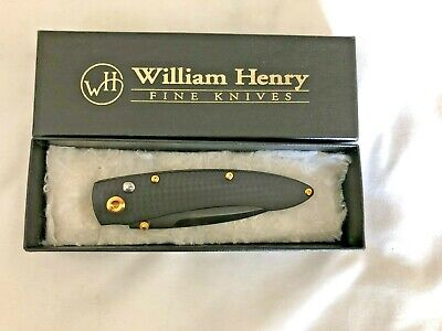William Henry Westcliff B07 Knife | 24K gold coating | ATS 34 steel blade