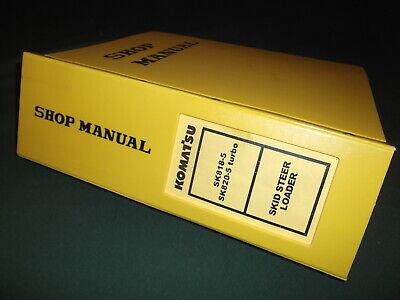 Komatsu Sk818-5 Turbo Skid Steer Loader Service Shop Repair Manual Book