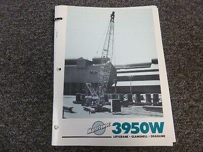Manitowoc 3950w Crawler Crane Specifications Lifting Capacities Manual