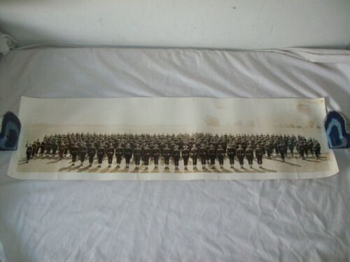 WWI Panoramic  army Regiment  photo 185th?