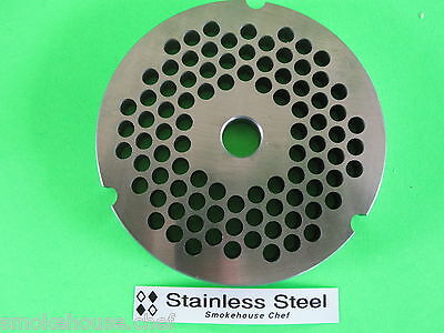 32 X 14 Ss Course Burger  Meat Grinder Chopper Plate For Hobart Lem Etc