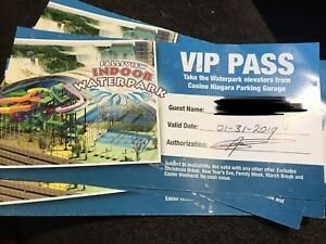 5 tickets to the fallsview water park in Niagara Falls