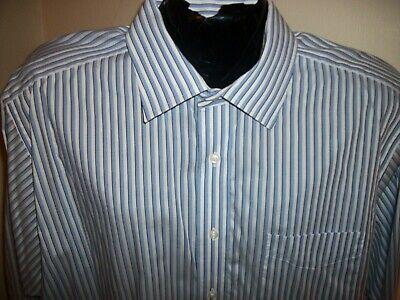 Men's Ike Behar IKE-EZE Performance Cotton L/S Button Down Shirt Size 17.5-34