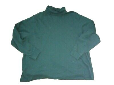 Women's Plus 3X 24w 26w Lands End Hunter Green Long sleeved Turtleneck Shirt Top Long Sleeved Turtleneck