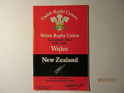 Wales v New-Zealand. Rugby Union. Cardiff 1980.