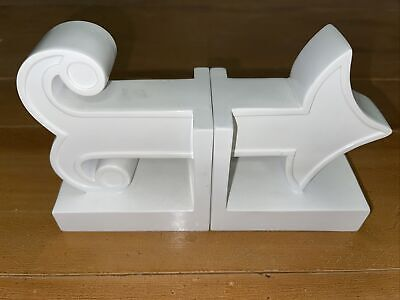 Jonathan Adler Bookends Happy Chic Katie White Arrow Modern Book Ends Pair Set
