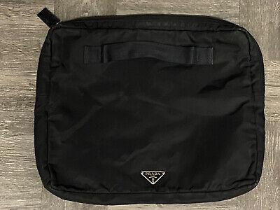 Authentic Prada Vintage Black Nylon Clutch Pouch Case
