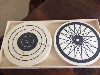NEW HomArt - Coasters Set - 12 wood (cool design)