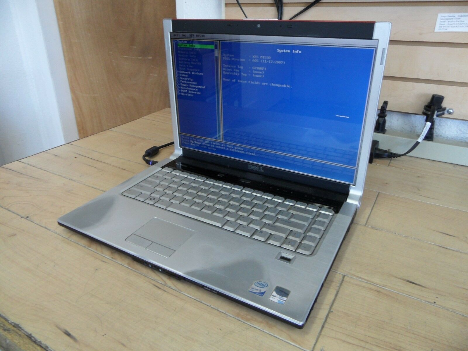 Dell XPS M1530 Laptop For Parts Posted Bios 120GB Hard Drive Wiped *