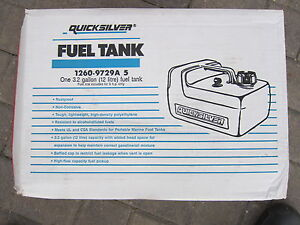 New Mercury 3.2 gal plastic portable fuel tank w/gauge and hose