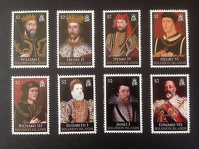 Solomon Islands 2008 Kings and Queens Set SG 1238-1245 MNH