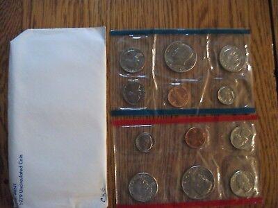 1979 US 12 Coin Mint Set Original Envelope Susan B Anthony Kennedy FREE SHIPPING