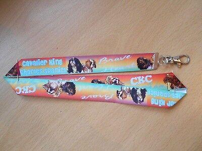Handmade Cavalier King Charles Dog Lanyard Whistle Walking Training ID Spaniel