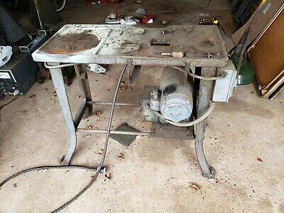 Cast Iron Machine Table Baselegs 36x16 Work Bench Industrial Lathe Four Slide