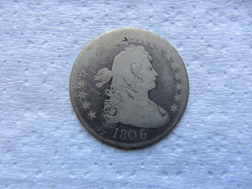 1806 Draped Bust Quarter Good Details   ( graffiti )