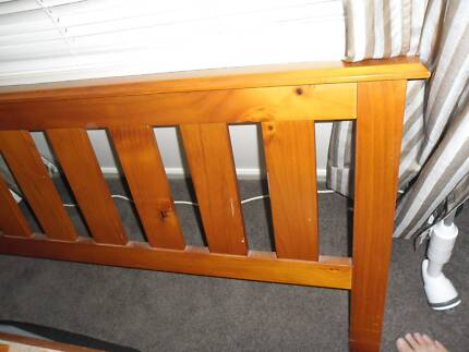 Queen Timber Bed and Mattress