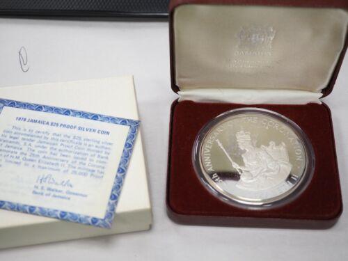 Jamaica 1978 $25 Proof Coin  (4+ Oz. SILVER) Box COA