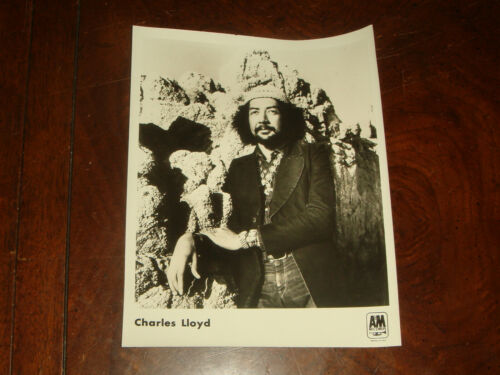 Ultra Rare CHARLES LLOYD 1972 A&M RECORDS PRESS KIT PUBLICITY PHOTO Saxophone