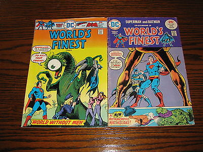 DC- WORLDS FINEST #229 and #233 Comic Lot!! 1975  VG/FN