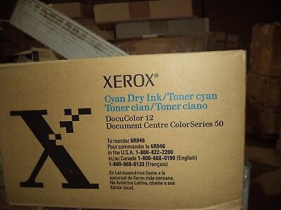 Xerox Cyan Toner Docucolor 12 6r946 4-pack New Oem Genuine