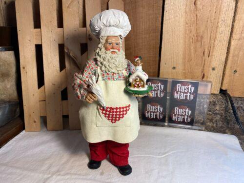 Possible Dreams Clothtique Baking Santa Figurine