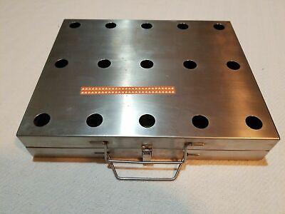 Stainless Steel Instrument Sterilization Tray 12x9.75x2.25