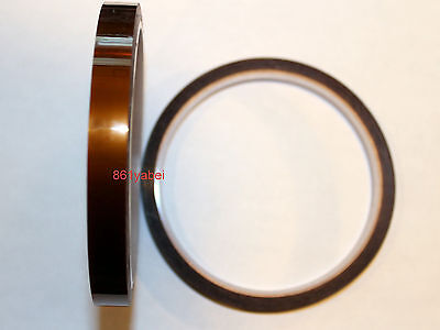 10mm X 100ft Gold High Temperature Heat Resistant Kapton Tape Polyimide Bga