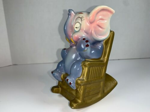 Vintage Rocking and Blinking Elephant Bank from the 1940