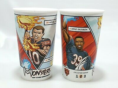 2 x Chicago Bears NFL Season 2018 Souvenir Cup #2 Monsters of the Midway - White](Chicago Bears Cup)