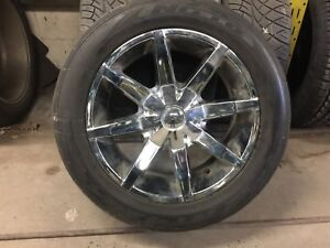 "20"" rim and tire package"