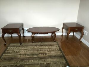NEW SOLID CHERRY END TABLES AND COFFEE TABLE !
