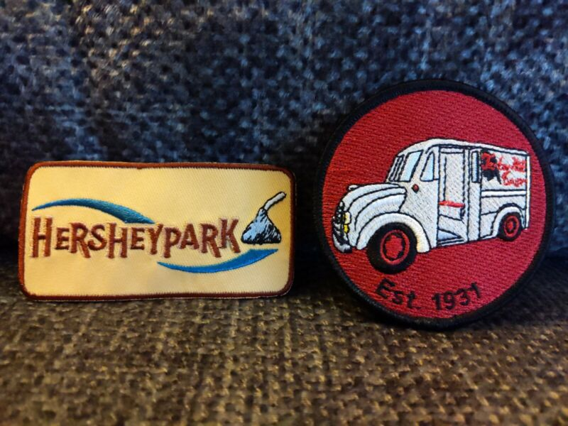 Vintage Set of TWO Patches: Hershey Park & Turkey Hill Farm Patch Pennsylvania